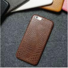 Гръб CROCO IPhone 7 тъмно кафяв