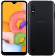 Samsung Galaxy A01, Dual SIM, 16GB, 2GB RAM, Черен